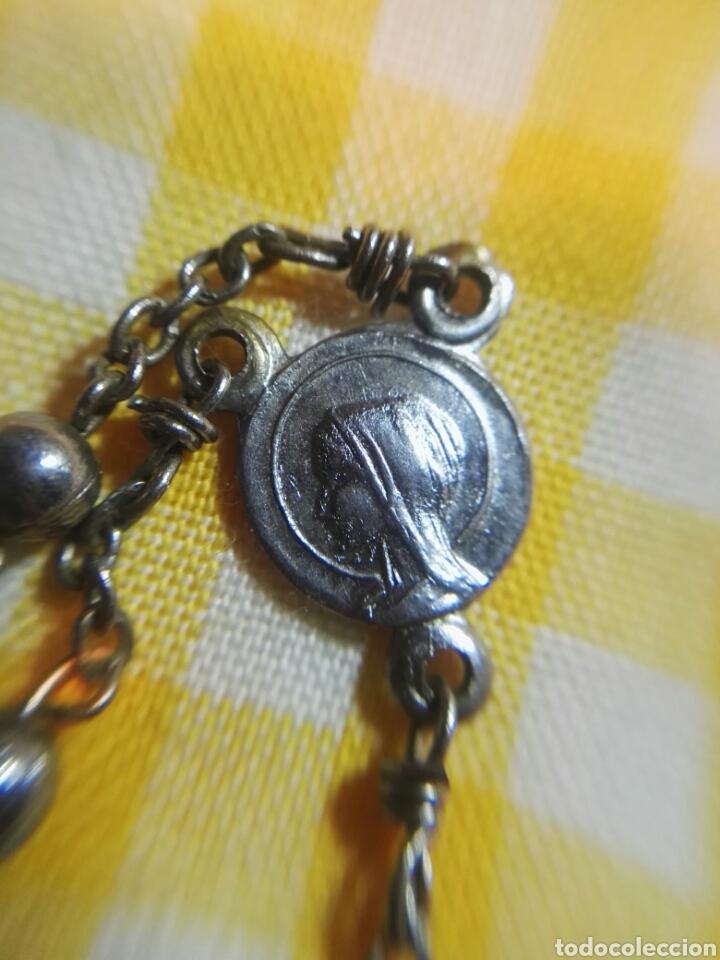 Antigüedades: ROSARIO DE METAL 33 cm - Foto 3 - 116789158