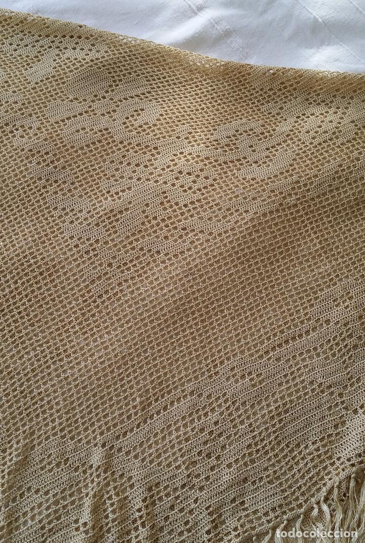 Antigüedades: Mantel de seda Art Deco - Foto 2 - 116812203