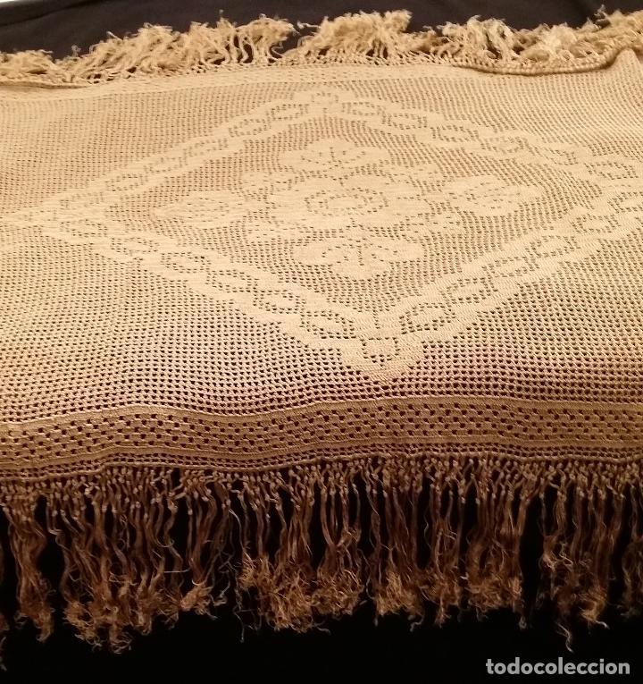 Antigüedades: Mantel de seda Art Deco - Foto 2 - 116815175