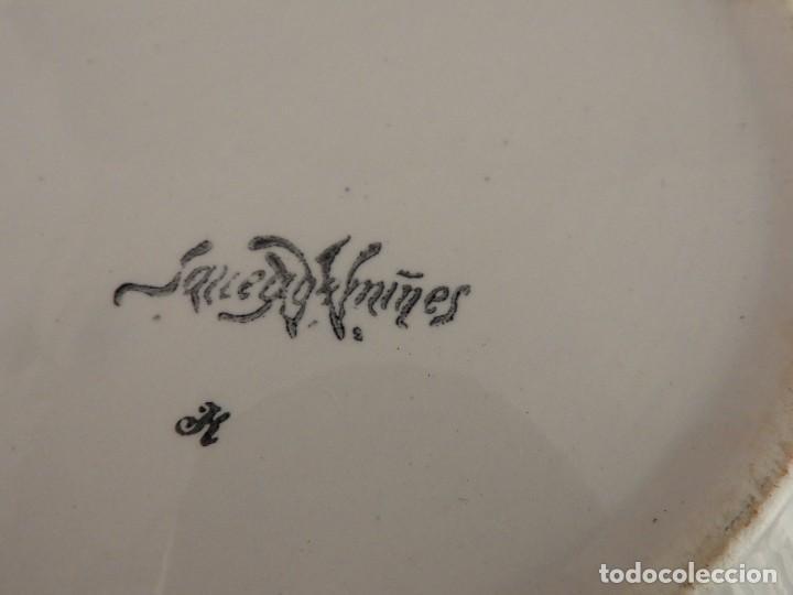 Antigüedades: SOPERA ANTIGUA DE CERAMICA VIDRIADA FIRMADA SARREGUEMINES - Foto 11 - 116816719