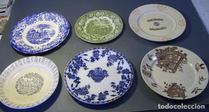 LOTE PLATOS PORCELANA (Antigüedades - Porcelanas y Cerámicas - Otras)