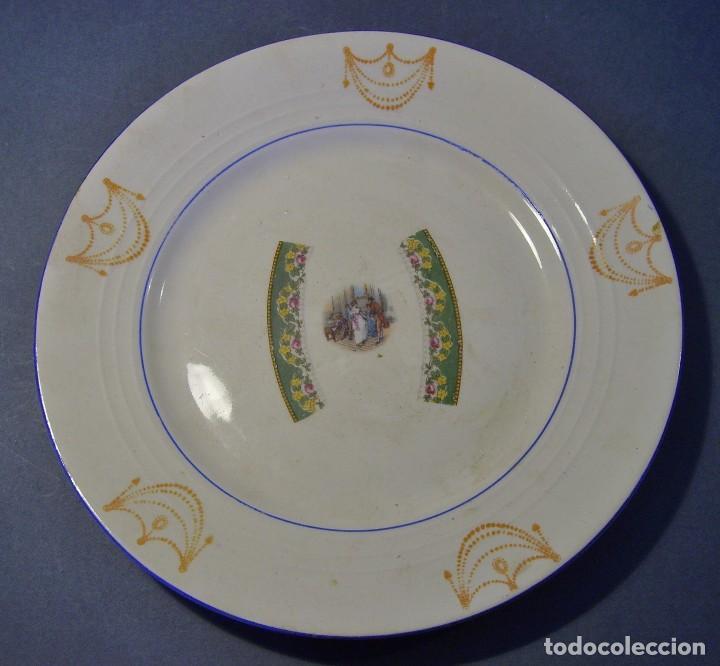 Antigüedades: LOTE PLATOS PORCELANA - Foto 6 - 116825659