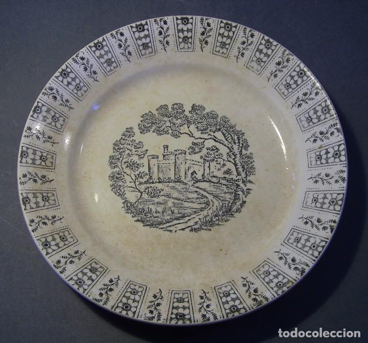 Antigüedades: LOTE PLATOS PORCELANA - Foto 8 - 116825659