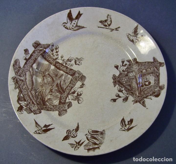 Antigüedades: LOTE PLATOS PORCELANA - Foto 12 - 116825659