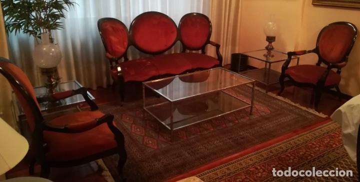TRESILLO ISABELINO (Antigüedades - Muebles Antiguos - Sofás Antiguos)