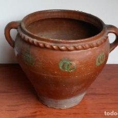 Antigüedades: C091.- CAZUELA, ORZA, EN CERAMICA POPULAR, DE PRINCIPIOS DEL S. XX Y DE NAVAL.. Lote 116836047