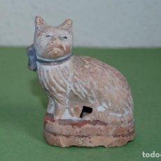 Antigüedades: FIGURA DE TERRACOTA - GATO - PRIMERA MITAD SIGLO XIX. Lote 116871543