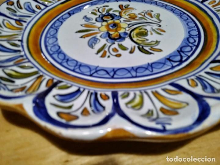 Antigüedades: 2 platos 25cm con inscripción en la parte trasera - flores - Foto 6 - 116877991
