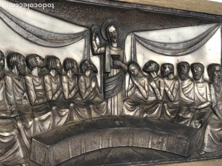 Antigüedades: SANTA CENA EN RELIEVE, METAL PLATEADO. ART DECO. - Foto 3 - 116898935