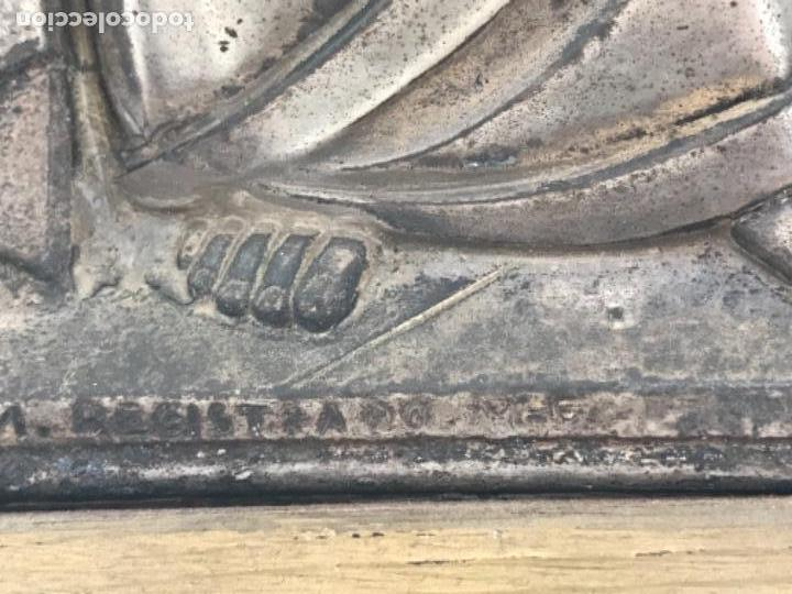 Antigüedades: SANTA CENA EN RELIEVE, METAL PLATEADO. ART DECO. - Foto 4 - 116898935
