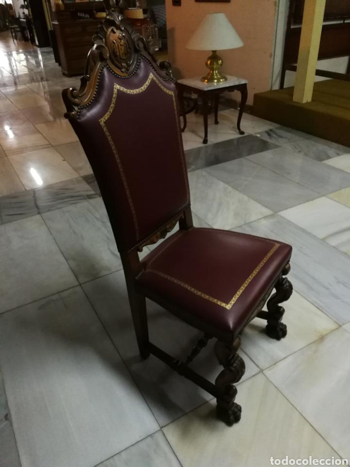 Sillas De Piel Buy Antique Chairs At Todocoleccion 116910475