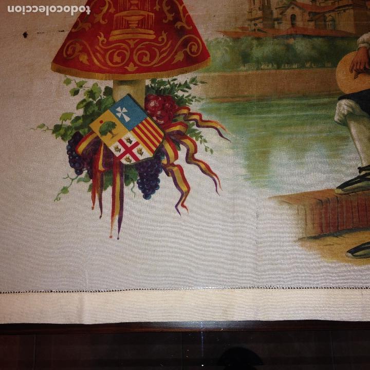 Antigüedades: ANTIGUO Y ORIGINAL PAÑUELO EN SEDA PINTADA -VIRGEN DEL PILAR CON BANDERA REPÚBLICANA- VER FOTOS - - Foto 2 - 116916347