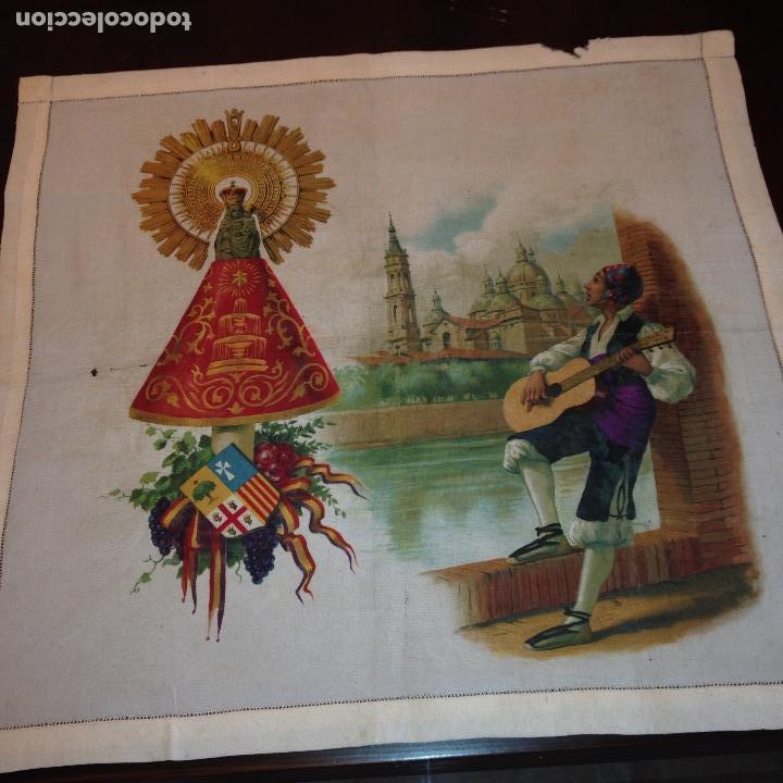 Antigüedades: ANTIGUO Y ORIGINAL PAÑUELO EN SEDA PINTADA -VIRGEN DEL PILAR CON BANDERA REPÚBLICANA- VER FOTOS - - Foto 3 - 116916347
