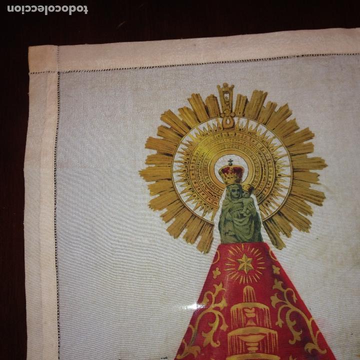 Antigüedades: ANTIGUO Y ORIGINAL PAÑUELO EN SEDA PINTADA -VIRGEN DEL PILAR CON BANDERA REPÚBLICANA- VER FOTOS - - Foto 4 - 116916347