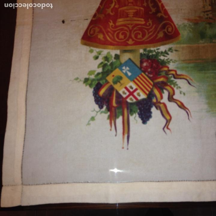 Antigüedades: ANTIGUO Y ORIGINAL PAÑUELO EN SEDA PINTADA -VIRGEN DEL PILAR CON BANDERA REPÚBLICANA- VER FOTOS - - Foto 5 - 116916347