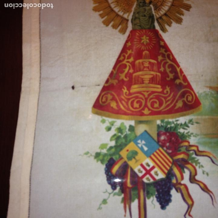 Antigüedades: ANTIGUO Y ORIGINAL PAÑUELO EN SEDA PINTADA -VIRGEN DEL PILAR CON BANDERA REPÚBLICANA- VER FOTOS - - Foto 6 - 116916347