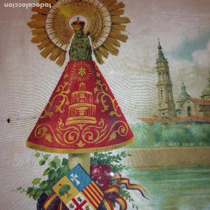 Antigüedades: ANTIGUO Y ORIGINAL PAÑUELO EN SEDA PINTADA -VIRGEN DEL PILAR CON BANDERA REPÚBLICANA- VER FOTOS - - Foto 7 - 116916347