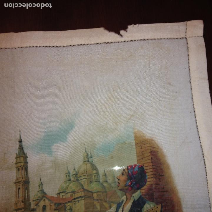 Antigüedades: ANTIGUO Y ORIGINAL PAÑUELO EN SEDA PINTADA -VIRGEN DEL PILAR CON BANDERA REPÚBLICANA- VER FOTOS - - Foto 8 - 116916347