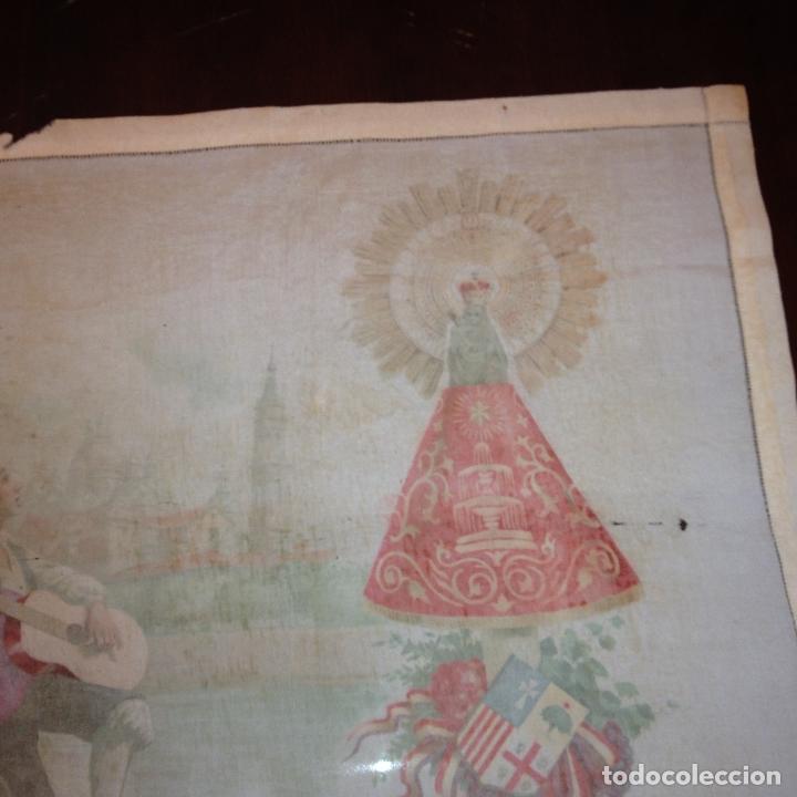 Antigüedades: ANTIGUO Y ORIGINAL PAÑUELO EN SEDA PINTADA -VIRGEN DEL PILAR CON BANDERA REPÚBLICANA- VER FOTOS - - Foto 15 - 116916347