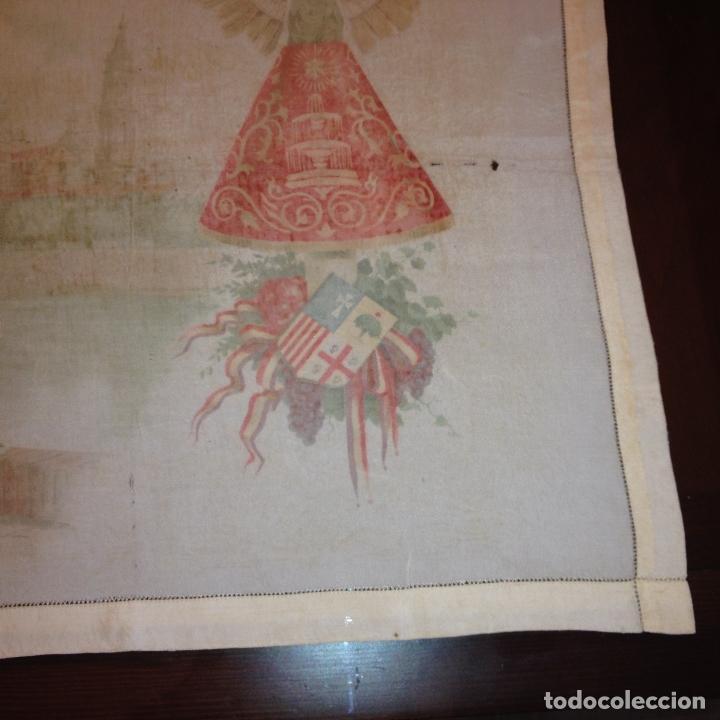 Antigüedades: ANTIGUO Y ORIGINAL PAÑUELO EN SEDA PINTADA -VIRGEN DEL PILAR CON BANDERA REPÚBLICANA- VER FOTOS - - Foto 16 - 116916347