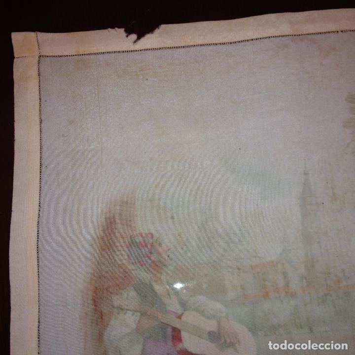 Antigüedades: ANTIGUO Y ORIGINAL PAÑUELO EN SEDA PINTADA -VIRGEN DEL PILAR CON BANDERA REPÚBLICANA- VER FOTOS - - Foto 18 - 116916347