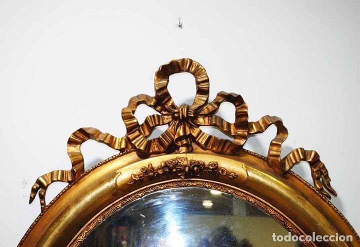 Antigüedades: ESPEJO ANTIGUO ESTILO ISABELINO - Foto 2 - 116937371