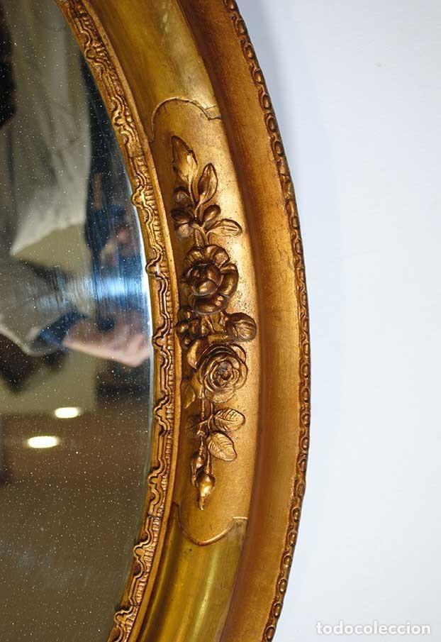 Antigüedades: ESPEJO ANTIGUO ESTILO ISABELINO - Foto 4 - 116937371