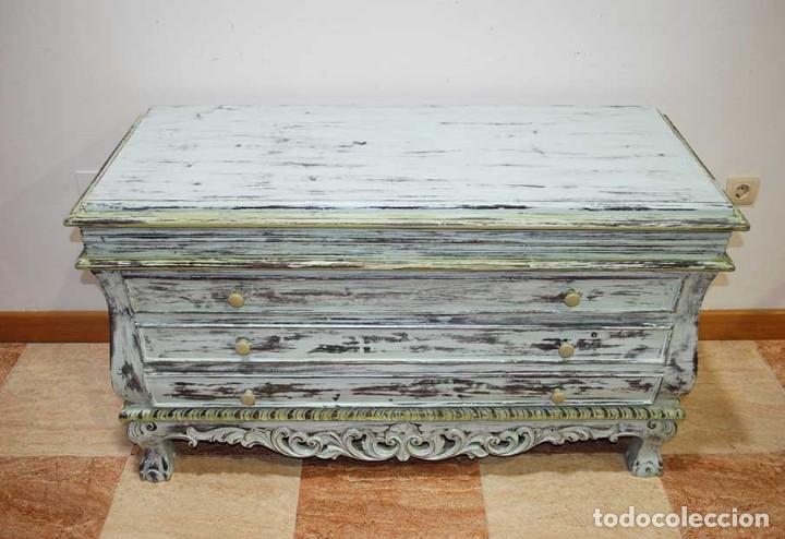 Antigüedades: ANTIGUO APARADOR DECAPADO - IDEAL DECO RETRO - VINTAGE - Foto 5 - 116942839