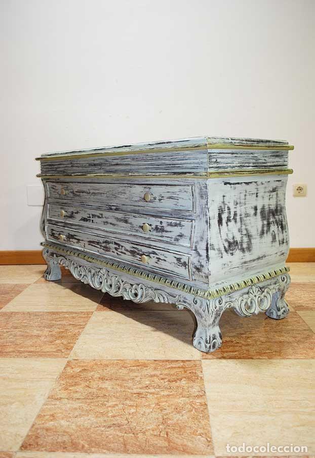 Antigüedades: ANTIGUO APARADOR DECAPADO - IDEAL DECO RETRO - VINTAGE - Foto 8 - 116942839