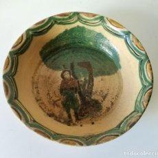 Antigüedades: LEBRILLO CERAMICA ANTIGUO RELIEVES. Lote 116948687