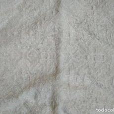 Antigüedades: COLCHA TIPO INDUSTRIAL ALGODON BLANCO AÑOS 50. Lote 116951443