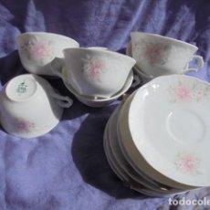 Antigüedades: 6 TAZAS Y 6 PLATOS DE CAFÉ DE PORCELANA VISTA ALEGRE. Lote 116960427