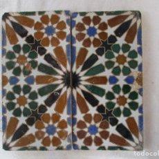 Antigüedades: PAREJA DE AZULEJOS MENSAQUE. Lote 116973111