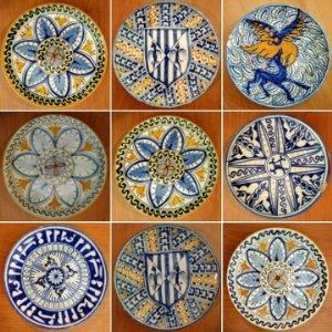 Colección de 11 platos antiguos 20 cm para decoración