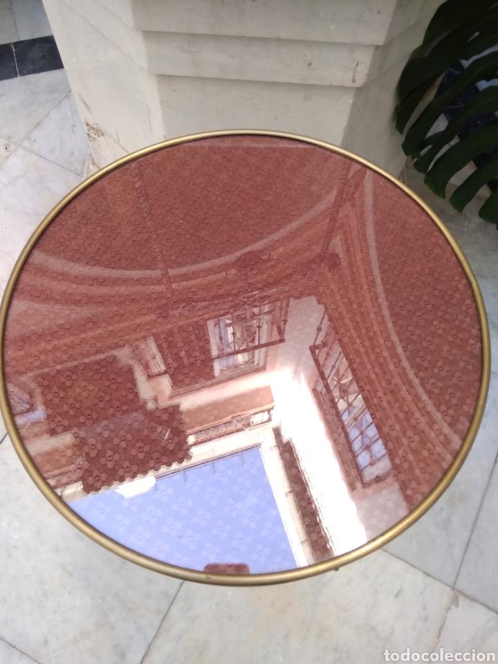 Antigüedades: Mesa art decó caoba bronce y cristal - Foto 2 - 116996662