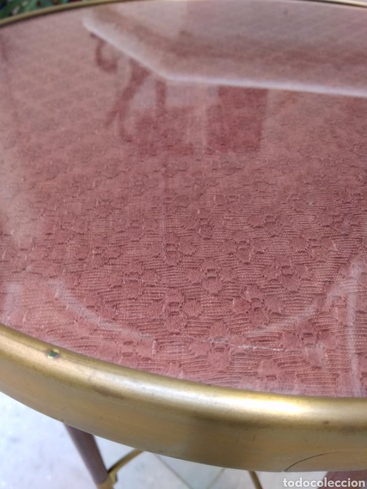 Antigüedades: Mesa art decó caoba bronce y cristal - Foto 3 - 116996662