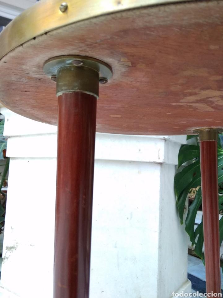 Antigüedades: Mesa art decó caoba bronce y cristal - Foto 5 - 116996662