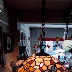 Antigüedades: LAMPARA DE TECHO TIFFANY. Lote 116997655