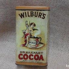 Antigüedades: CAJA DE LATA WILBUR'S (COCOA) . AÑOS 80 .. Lote 117000379