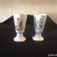Antigüedades: DOS COPAS DE COLECCION MARCA LIMOGES. Lote 117010839