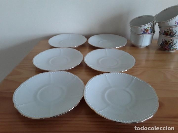 Antigüedades: Tazas y platillos porcelana Santa Clara - Foto 5 - 117019035