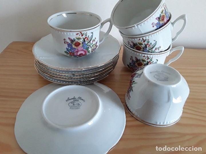 Antigüedades: Tazas y platillos porcelana Santa Clara - Foto 6 - 117019035