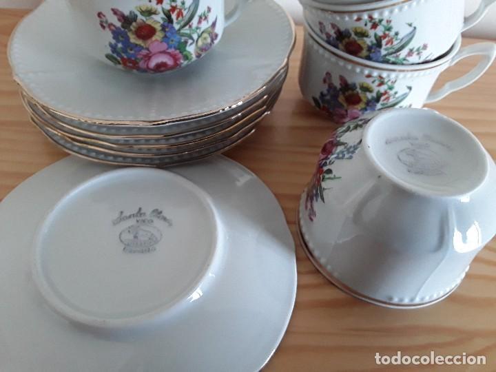 Antigüedades: Tazas y platillos porcelana Santa Clara - Foto 7 - 117019035
