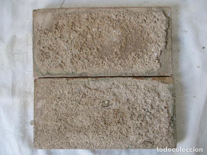 Antigüedades: Pareja de azulejos Mensaque - Foto 2 - 117023663