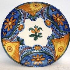Antigüedades: ANTIGUO PLATO DE RIBESALBES DEL SIGLO XIX. 33 CMS. DIAMETRO. Lote 117023955