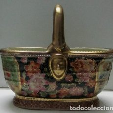 Antigüedades: CESTA DE SOBREMESA - PORCELANA SATSUMA . Lote 117025011