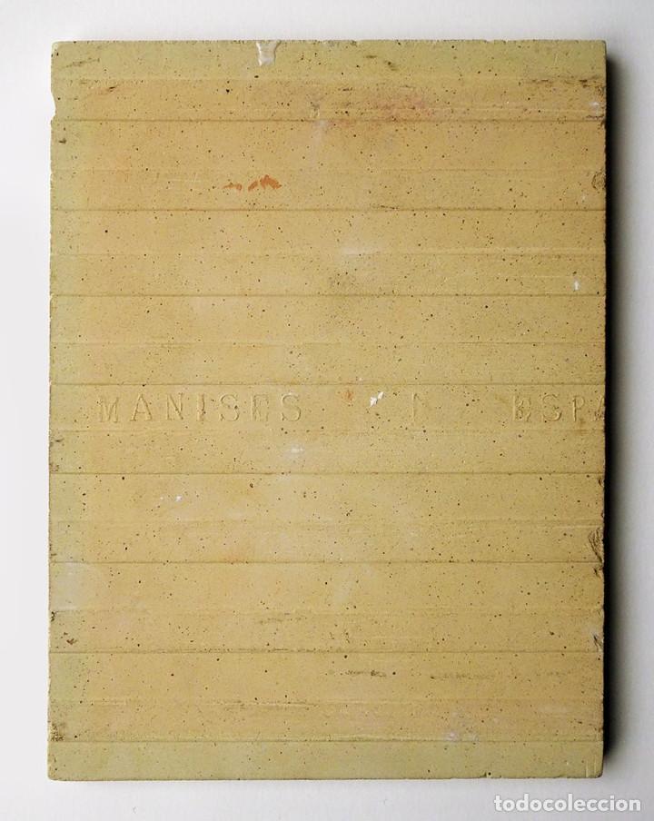Antigüedades: EXTRAORDINARIO AZULEJO DE MANISES PINTADO POR EL CERAMISTA QUISMONDO FIRMADO CON RETRATO DE MANOLETE - Foto 6 - 117035683