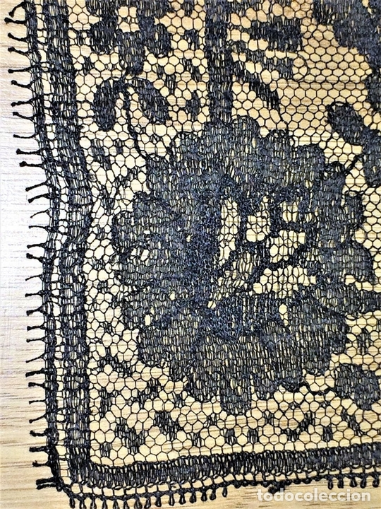 Antigüedades: MANTILLA. BORDADO SEMIMANUAL SOBRE TUL. SEDA O VISCOSA. ESPAÑA. CIRCA 1950 - Foto 3 - 117041915
