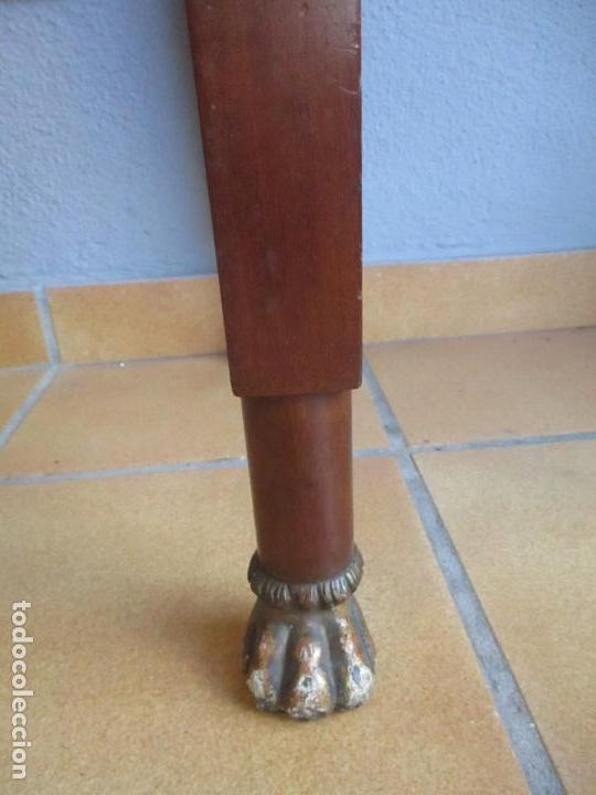 Antigüedades: Antigua Mesa - Consola Imperio - Madera de Caoba - Patas de Garra Doradas - Año 1800 - Foto 16 - 117044487