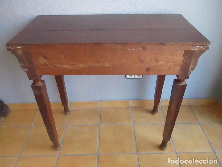 Antigüedades: Antigua Mesa - Consola Imperio - Madera de Caoba - Patas de Garra Doradas - Año 1800 - Foto 22 - 117044487